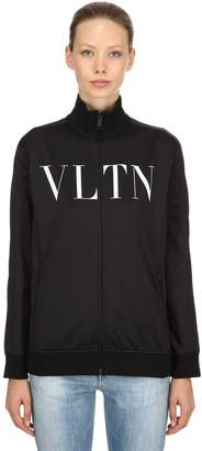 Valentino Vltn Printed Techno Zip-Up Sweatshirt