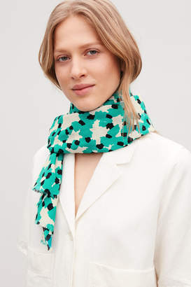 Cos Silk-cotton scarf
