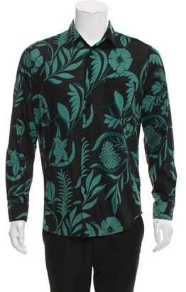 Ami Alexandre Mattiussi Floral Print Button-Up Shirt