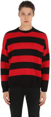 The Kooples Distressed Stripe Cashmere Blend Sweater