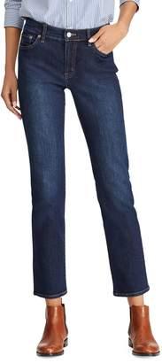 Lauren Ralph Lauren Dark-Wash Modern Straight Curvy Jeans