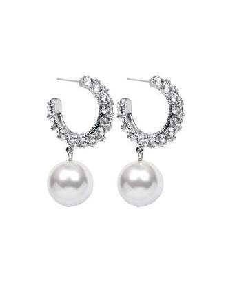 f9ae7c7bb Pearl Drop Hoop Earrings - ShopStyle Canada