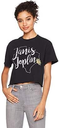 Goodie Two Sleeves Junior's Janis Joplin Yellow Rose Diy Crop Top