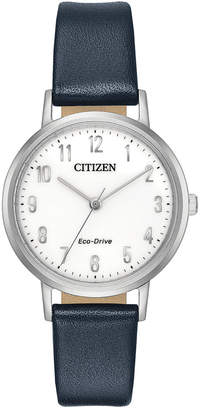 Citizen Eco-Drive Women's Blue Leather Strap Watch 30mm