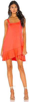 Susana Monaco Crossover Ruffle Wide Strap Dress