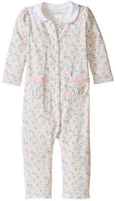 Ralph Lauren Printed 1x1 Rib Floral One-Piece Coveralls Girl's Overalls One Piece