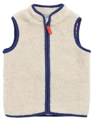 Boden Mini Cosy Borg Fleece Vest
