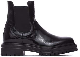 Janet & Janet Molly Glossy Black Ankle Boots