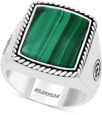 Effy Men Malachite Ring in Sterling Silver