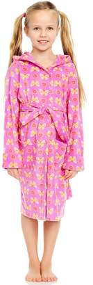 Leveret Butterfly Fleece Robe (Toddler, Little Girls, & Big Girls)