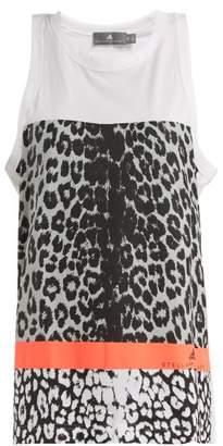 Adidas By Stella Mccartney - Leopard Print Performance Tank Top - Womens - White Multi