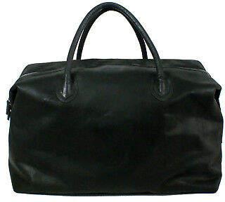 NEW Black leather weekender bag by Raku Collection