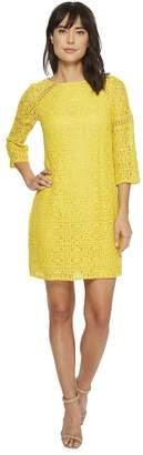 Adrianna Papell Marni Lace 3/4 Sleeve Shift Women's Dress
