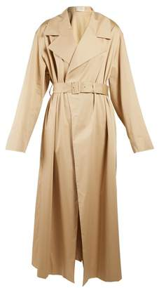 The Row Moora Notch Lapel Trench Coat - Womens - Beige
