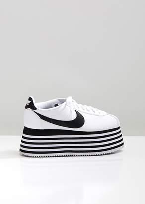 Comme des Garcons Nike Striped Platform Cortez Sneakers