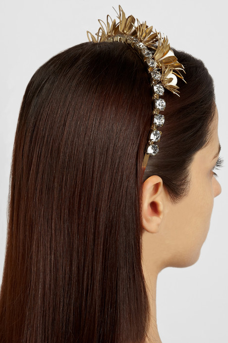 Eugenia Kim Daisy embellished flower metal headband