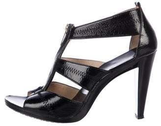 MICHAEL Michael Kors Patent Leather Cutout Sandals
