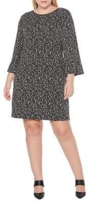 Rafaella Plus Printed Long-Sleeve Dress