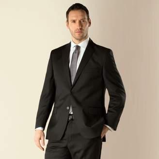 Green & Black Racing Green - Black Stripe Regular Fit 2 Button Suit Jacket