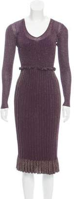 Altuzarra Metallic Rib Knit Dress.