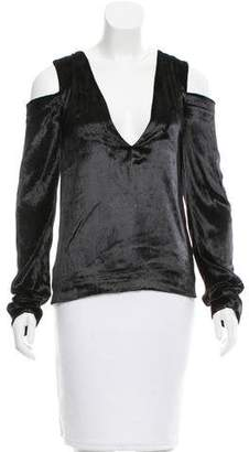 Baja East Velvet V-Neck Blouse w/ Tags