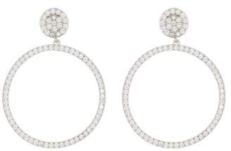 Nordstrom Rack Pave CZ Frontal Hoop Dangle Earrings