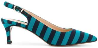 Circus Hotel striped slingback pumps