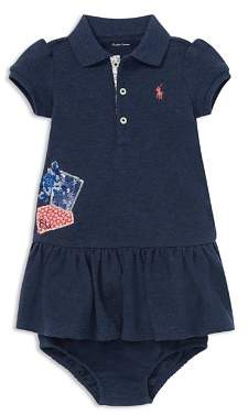 Ralph Lauren Girls' Patchwork Polo Dress & Bloomers Set - Baby