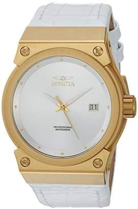 Invicta Women's 'Akula' Quartz Gold-Tone and Leather Casual Watch
