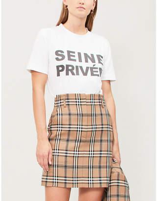 Claudie Pierlot Slogan-print cotton-jersey T-shirt