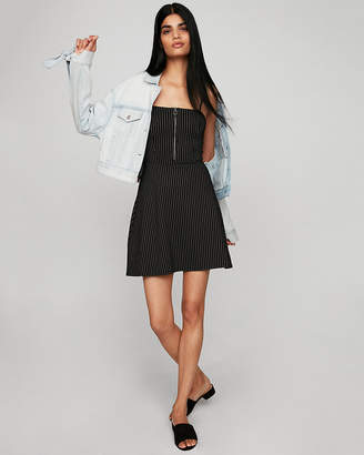 Express Striped Zip Front Dress