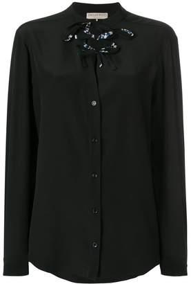 Emilio Pucci lace-up blouse