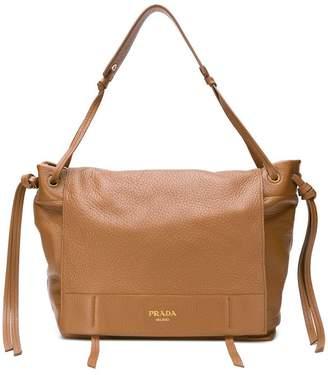 Prada pebbled shoulder bag