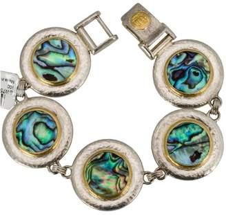 Gurhan Yellow Gold and Silver Ocean Abalone Shells Bracelet