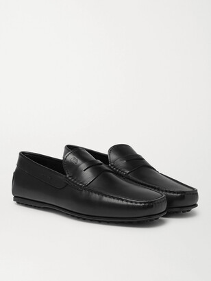 Tod's City Gommino Leather Penny Loafers - Men - Black