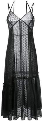 Le Ciel Bleu gathered detail lace dress