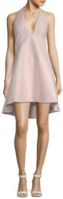 Halston Women's Plunging Halter Dress
