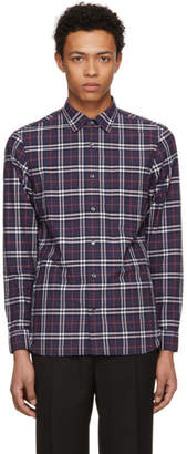 Burberry Navy Plaid Alexander Shirt