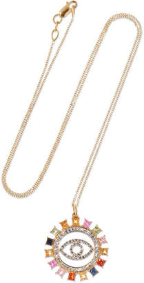 Ileana Makri Eye 18-karat Gold, Sapphire And Diamond Necklace - one size