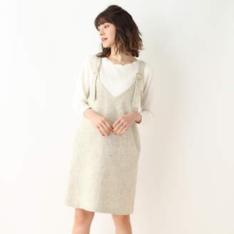 Couture Brooch (クチュール ブローチ) - クチュール ブローチ Couture brooch 【WEB限定プライス】【WEB限定サイズあり】ツイードジャンスカ (ベージュ)