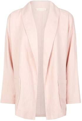Eileen Fisher Linen Shawl Lapel Jacket