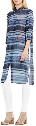Women's Two By Vince Camuto Textured Skies Stripe Long Tunic $99 thestylecure.com