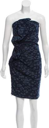 Lanvin Strapless Denim Dress