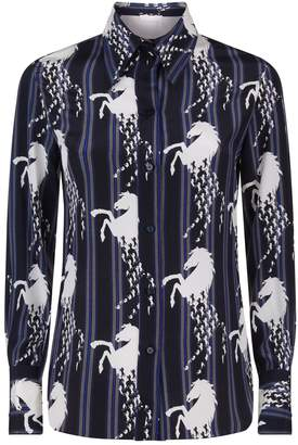 Chloé Striped Horse Print Shirt