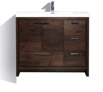 URBAN RESEARCH MORENOBATH Moreno Bath MOD 42 Free Standing Modern BathroomVanity with2 and 3 Right Side Drawers