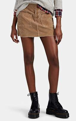df9817a37e NSF Women's Penelope Cotton Corduroy Button-Front Miniskirt - Camel