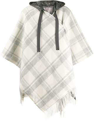 Herno hooded knit poncho