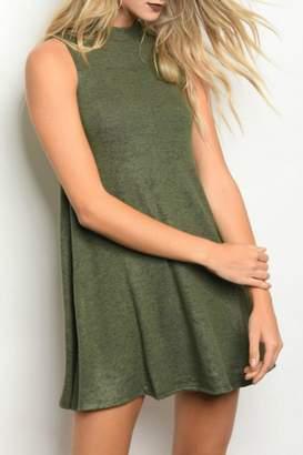 Popular Basics Olive Tank Dress