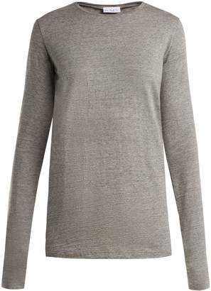 Raey Long Sleeved Slubby Cotton Jersey T Shirt - Womens - Light Grey