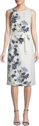 Vince Camuto Floral Self-Tie Midi Dress
